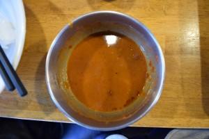 フジヤマつけ麺レッド完食