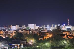 掛川城の夜景