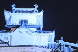 ブルーライトアップ掛川城
