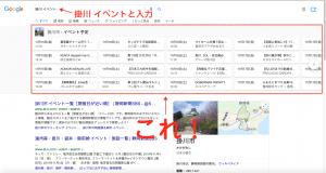 googleイベント検索